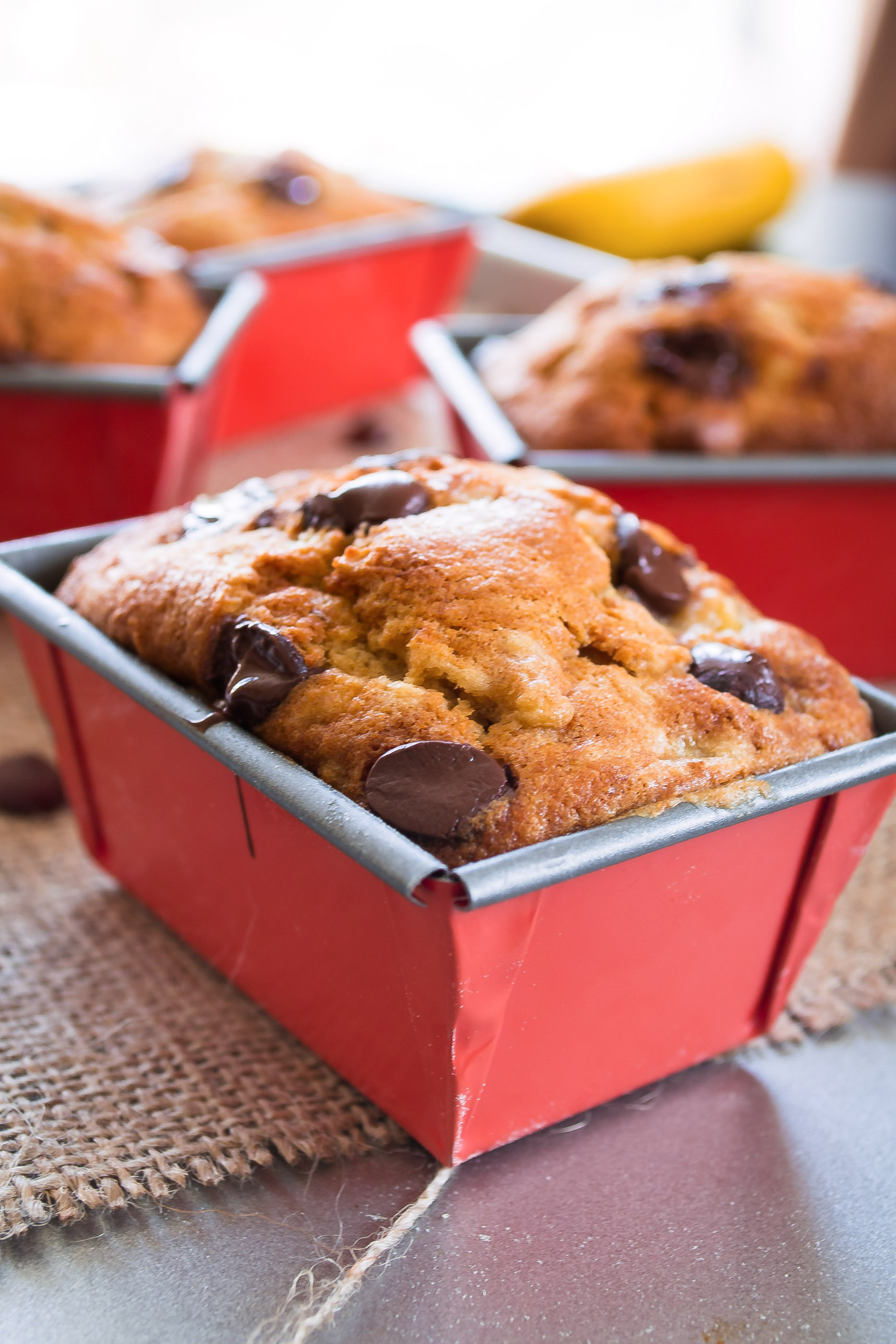 Super moist Banana loaf with raisins and chocolate chips