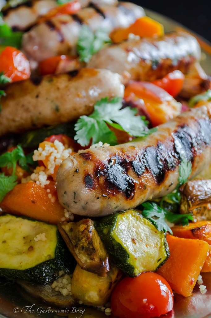 Summer Vegetables and Honey-Glazed Sausages with Couscous4