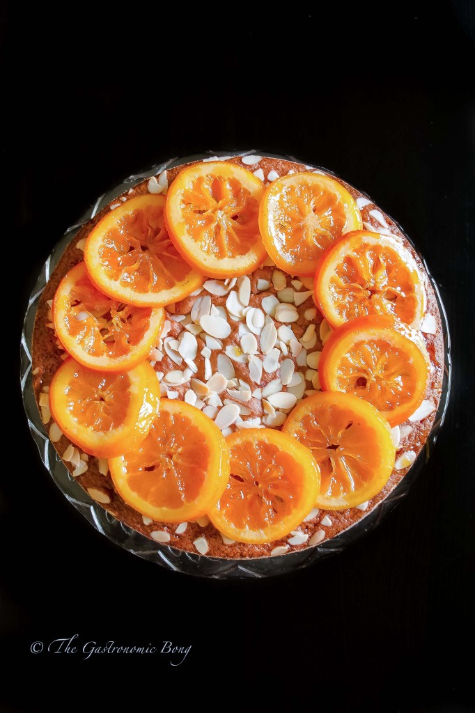 Orange Almond Cake with Candied Orange | The Gastronomic BONG