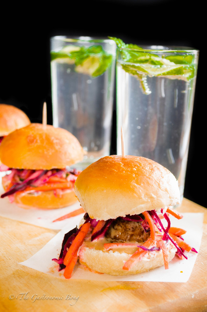 Oriental Meatballs Slider with Kimchi Slaw and Hoisin Mayonnaise3
