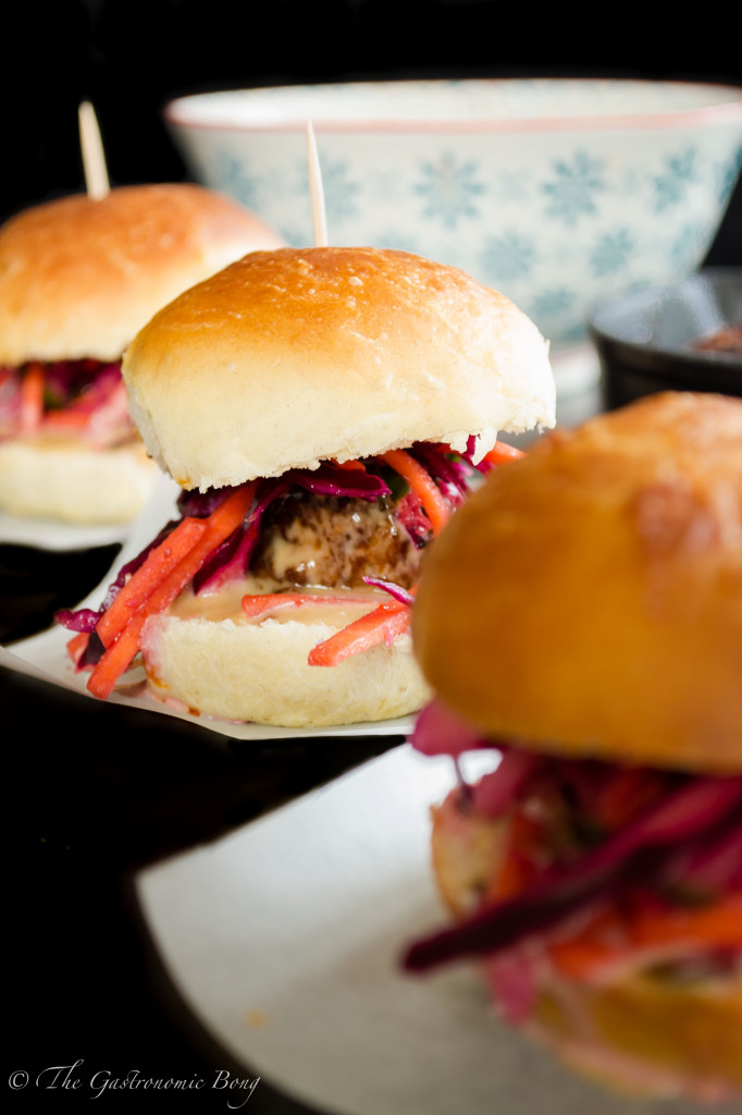 Oriental Meatballs Slider with Kimchi Slaw and Hoisin Mayonnaise7