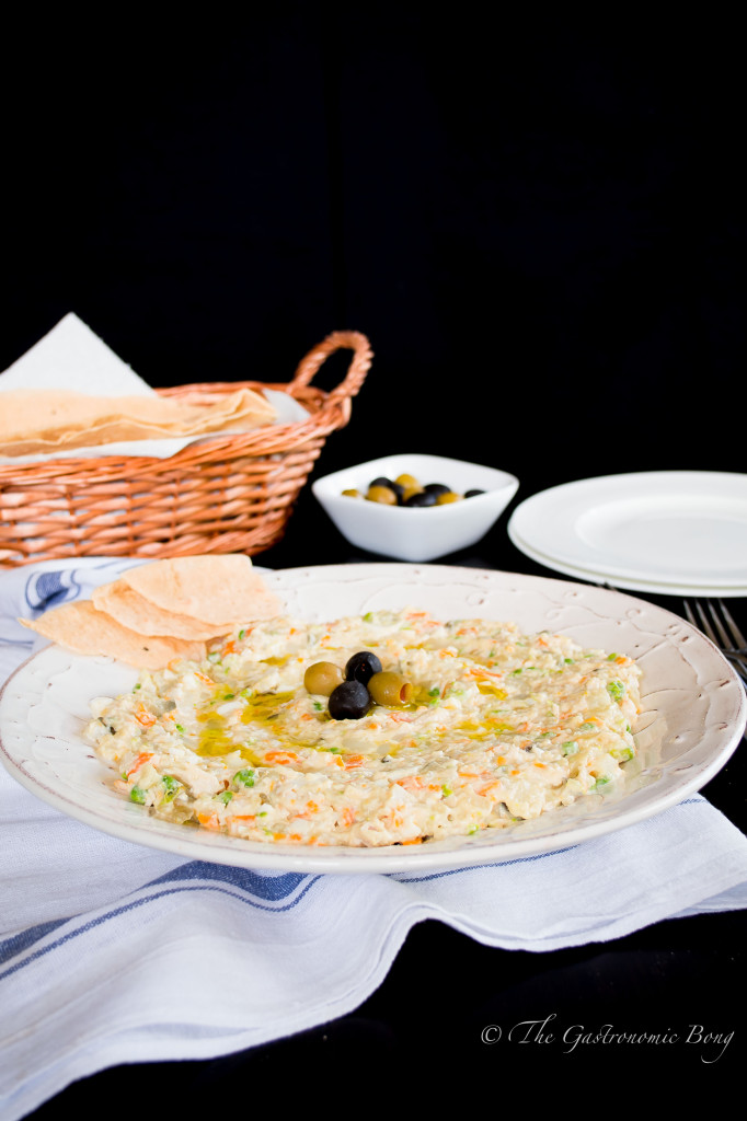 Persian Salad-e-Olivieh with Taftoon Bread2