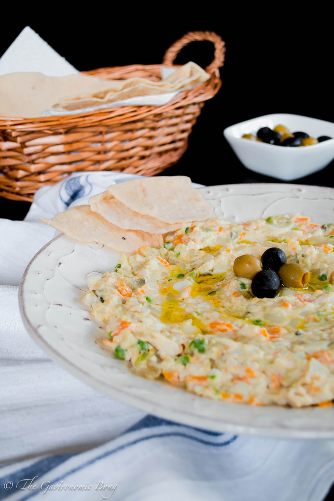 Persian Salad-e-Olivieh with Taftoon Bread5