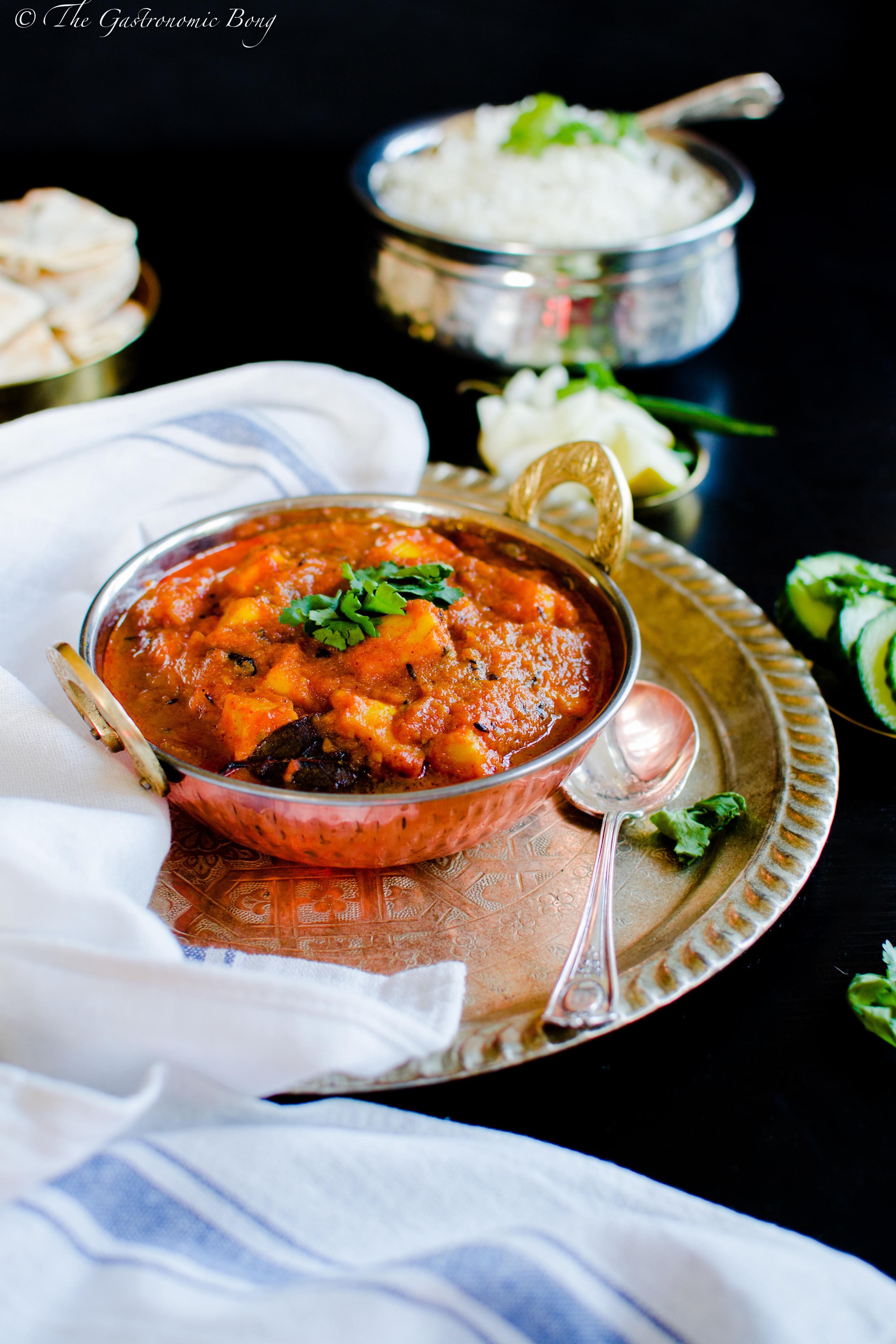 Roasted Curried Tomatoes With Fried Paneer And Rice Recipes ...