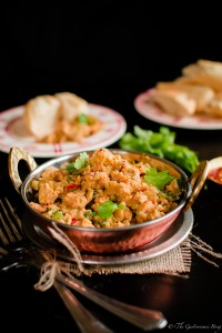 Parsi style spicy scrambled eggs