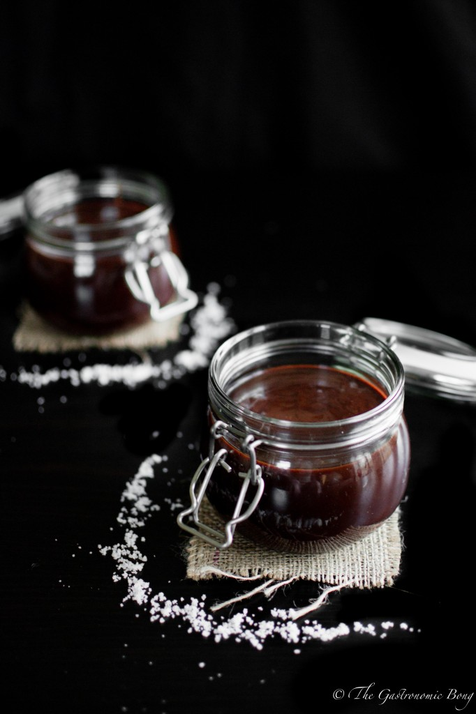 Dark Chocolate Salted Caramel Sauce1