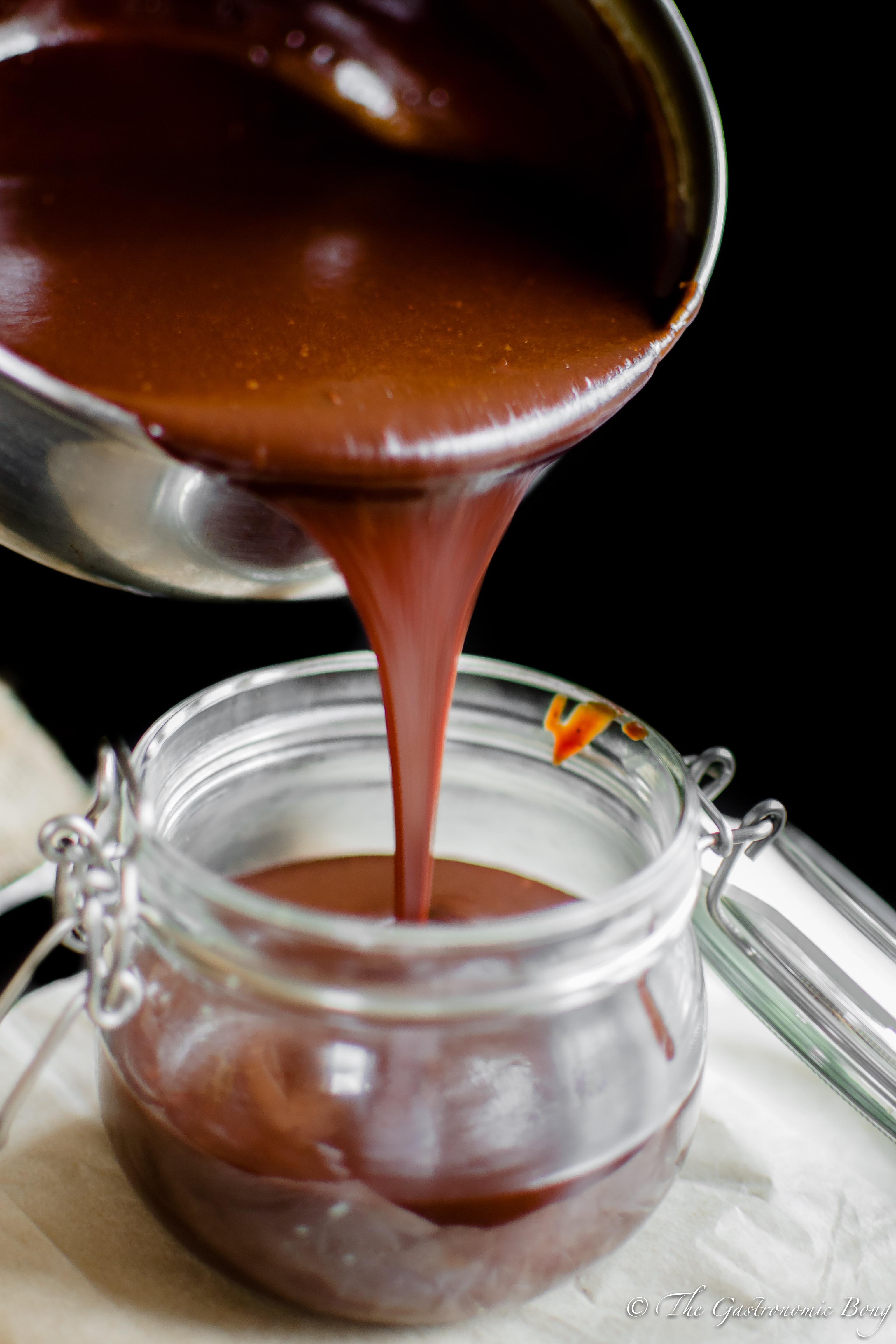 Dark Chocolate Salted Caramel Sauce