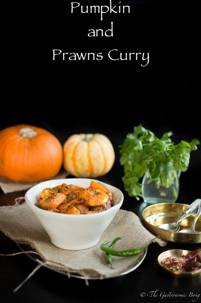 Pumpkin and Prawns Curry with Indian Five Spice (Kumro-Chingri Torkari)