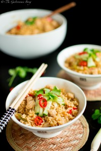 Thai Chicken Fried Rice With Homemade Thai Curry Paste