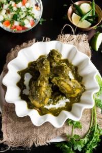 Chicken Spinach Curry- Murg Saagwala