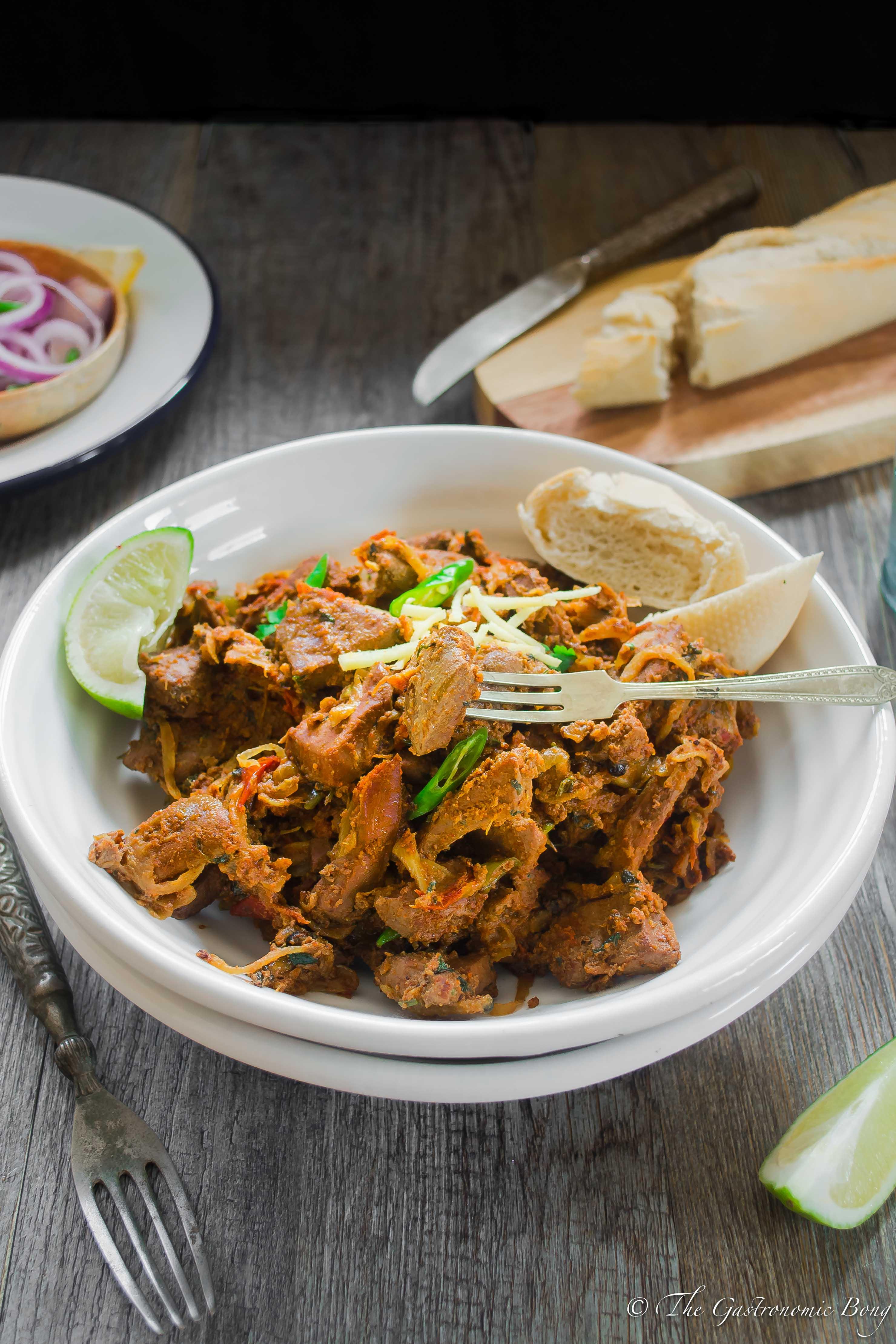 Spicy Lamb/ Mutton Liver - Kaleji Masala